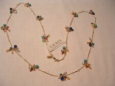Ralph Lauren Goldtone Fine Chain w Semi Precious Multi Color Beads Necklace