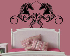 Wall Room Decor Vinyl Sticker Mural Decal Nursery Girl Pony Unicorn Magic F2294