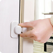 Adhesive Kids Child Baby Safety Lock For Cabinet Door Drawer Cupboard Fridge