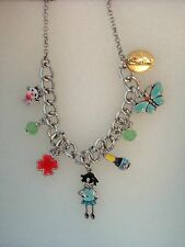 Sodini blue doll necklace