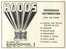 1953 Hoods Summer Road Birmingham Wholesale Distributors Ad