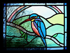 Framed Print - Stained Glass Window Effect of a Bird (Picture Poster Animal Art)
