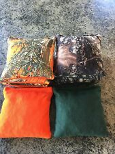 Cornhole Bags - True Timber, Realtree  Camouflauge Green and Orange Camo, 8 Bags