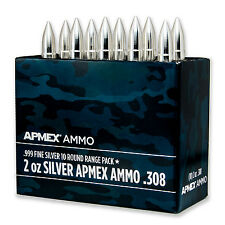2 oz Silver Bullet - .308 Caliber 10-Count Range Pack SKU #92438