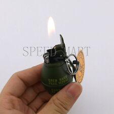 Mini Grenade Shaped Refillable Butane Gas Flame Cigarette Cigar Lighter Gift New
