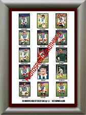 WEST BROM - 1971-72 - REPRO STICKERS A3 POSTER PRINT