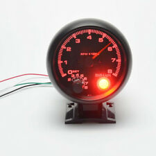 Car Auto 3.75'' Red Digital LED Black Shell RPM Tachometer Tacho Gauge Universal