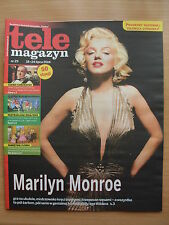 MARILYN MONROE on front cover Polish Tele Magazyn 29/2014