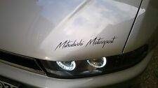 Mitsubishi Motorsport Auto Aufkleber Sticker Sports Mind KFZ Limited Edition