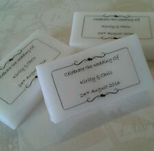 10 HANDMADE MINI PERSONALISED SOAPS - WEDDING FAVOURS/GIFTS
