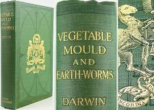 CHARLES DARWIN*1904*FORMATION OF VEGETABLE MOULD & EARTHWORMS/WORMS/GEOLOGY/SOIL