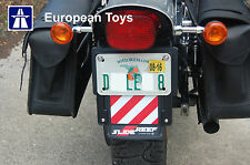Universal Motorcycle licence plate holder with extendable beacons SlideReef™