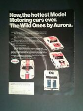 1969 Aurora Slot Car Model Motoring Racing Club HO Toy Memorabilia Promo AD