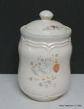 Ceramic Country Goose Cookie Jar Canister. International China Co. Stoneware