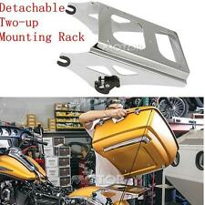 Chrome Detachable Two Up Tour Pack Mounting Luggage Rack For Harley Davidson