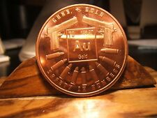 GUNS AND GOLD Medal PROTECT THE FUTURE PURE COPPER MEDAL 1 OZ. BULLETS SAFETY #
