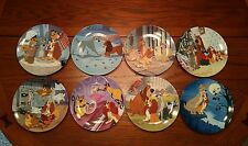 """Nib: Knowles Disney's """"Lady and the Tramp"""" Collector Plates (Set of 8 Plates)"""