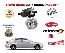 FOR LEXUS IS200D IS220D  2005- ON FRONT BRAKE DISCS + DISC PADS SET *OE QUALITY*