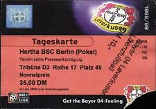 Ticket DFB-Pokal 98/99 Bayer 04 Leverkusen - Hertha BSC