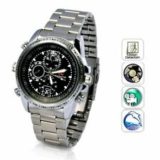 Spy Wrist Watch Hidden Camera Recorder Video Voice 8GB Steel Strap Night Vision