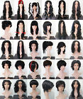 Black Short Long Curly Straight Wavy Fancy Dress Costume Halloween Party Wig