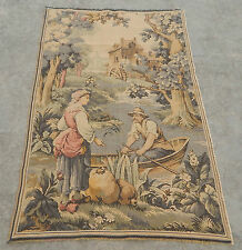 Vintage French Beautiful Scene Tapestry 124x82cm (A372)