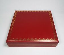 Necklace Gift Organizer case Storage Box Jewelry Display Red Leatherette