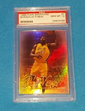 1999 FLAIR SHOWCASE #7 SHAQUILLE O'NEAL PSA 10  LOS ANGELES LAKERS  N000-90