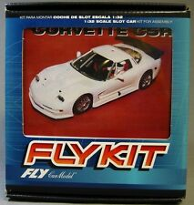 FLY 1/32 SLOTCAR FLY  KIT CORVETTE C5R white body chassis & parts 88306