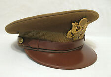 WW2 WWII U.S. Army Officer's Visor Hat Fur Felt Size 7 Excellent Condition