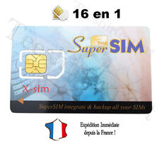 1 CARTE SUPER SIM VIERGE COPIE SAUVEGARDE CLONE TELEPHONE PORTABLE SUPERSIM