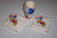 Sam the Eagle olympic napkins and cups 1984 Los Angeles