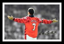 ERIC CANTONA - MANCHESTER UNITED AUTOGRAPHED SIGNED & FRAMED PP POSTER PHOTO