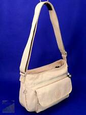 Kipling SYRO Tan Nylon Hobo Crossbody Bag Travel Purse Med NO Monkey $79 NWOT