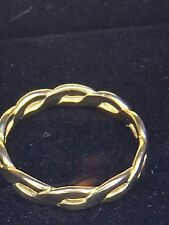 JAMES AVERY -SIZE 7 -14k Yellow Gold Retired Woven Band RARE!