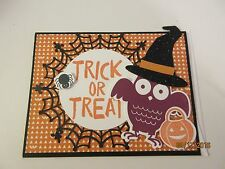 Halloween Handmade Greeting Card Owl Trick or Treat - using Stampin Up products