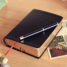 Retro Notebook Journal Diary Sketchbook Leather Cover Thick Blank Pages