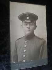 Cdv old photograph soldier by Engelbrecht Bayreuth Germany c1900s Ref 506(6)