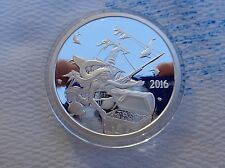1 oz. 2016 Silverbug's MERMAID Proof round .999 fine silver in capsule