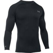 Under Armour 1281082 Men's Black Base 4.0 Long Sleeve Crew Shirt - Size Large