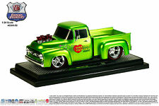 M2 MACHINES 1956 FORD F-100 PICKUP TRUCK GROUND POUNDER GREEN 1/24 CAR 40300-50B