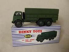 Dinky Toys No 622 10-ton Army Truck With Driver, Boxed # 1