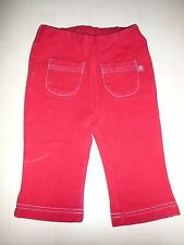 H & M tolle Sweat Legging Gr. 62 unifarben rot !!