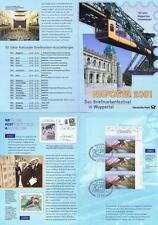 BRD 2001: NAPOSTA! Erinnerungsblatt mit drei Nr. 2171! Sonderstempel Wuppertal!