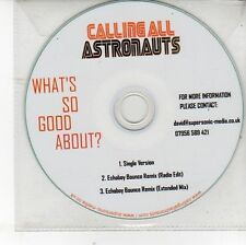 (DV158) Calling All Astronauts, What's So Good About? - DJ CD