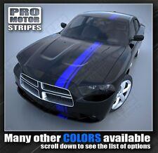 Dodge Charger Offset Side Over-The-Top Stripes 2011 2012 2013 Decals Pro Motor