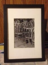 Cafe Chairs, Bern, Switzerland, 12.5 x 17.5cm Black & White