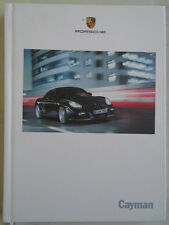 Porsche Cayman range brochure Jan 2010 hardbacked Chinese text