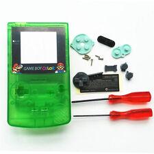 GBC Nintendo Game Boy Color Housing Shell Screen Clear Green Mario USA!