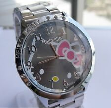 Reloj Hello Kitty watch en acero. Steel case watch A2086 Fondo Negro